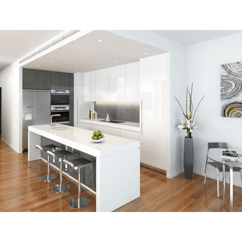 10 X 10 Galaxy Slate Glossy White Kitchen Cabinets Home Magic Llc