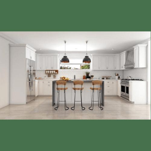 White Kitchen Cabinets In Stock: 10' X 10' Glacier-White Kitchen Cabinets