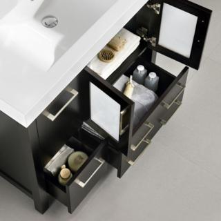 36 In. SINGLE SINK BATHROOM VANITY ESPRESSO COLOR 019 Series