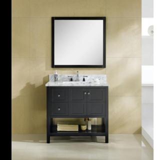 36 In. open shelf bathroom vanity Left & Right Drawer set