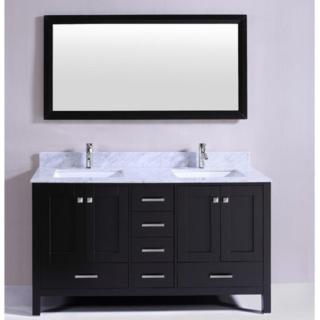 60″London Double Bathroom Vanity Set