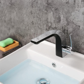 Deck Mounted Basin Mixer Lavatory Faucet