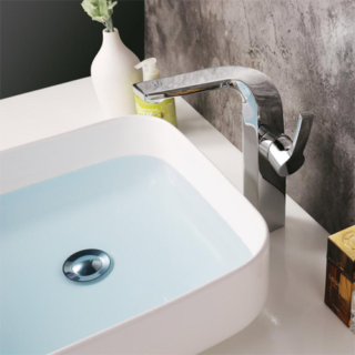 Deck Mounted Basin Mixer Tall Lavatory Faucet