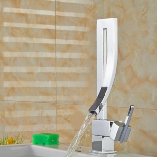 Modern Waterfall Bathroom Basin Faucet Vessel Sink One Handle/hole Mixer Tap