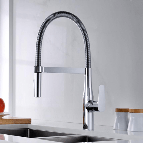 Modern kitchen Chrome Single Handle Pull-Down Spray Kitchen Faucet
