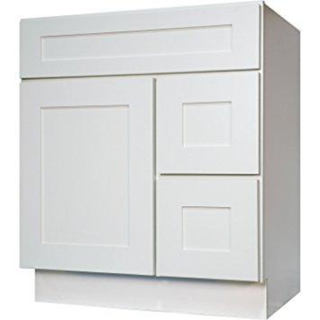 RTA White Shaker Maple Sink and 2 Drawer Base | 30″